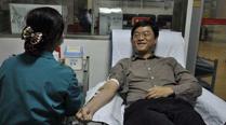 男子10余年捐献熊猫血66次