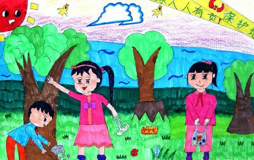 绘画,尊师重教,感恩,爱护环境的画图片