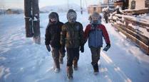 俄罗斯学生零下52度才停课