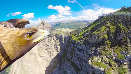 老鹰视角俯瞰阿尔卑斯山,美不胜收
