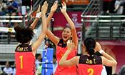 开门红 中国女排3-0完胜巴西