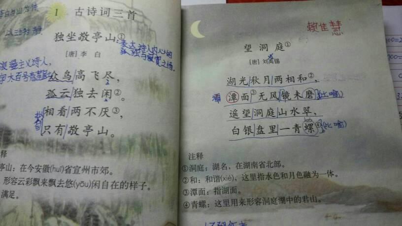 你们谁有小学四年级下册语文书图片