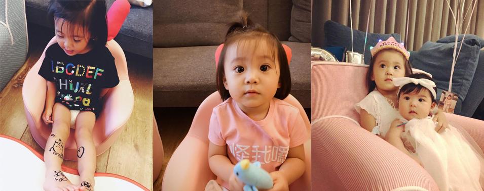 贾静雯为爱女咘咘庆生 咘咘说自己 2个岁