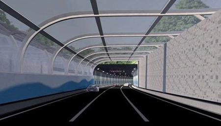 港珠澳大桥海底隧道路面开始铺装