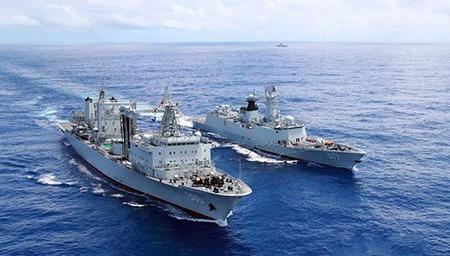 军机绕完换军舰 大陆舰队绕行台湾?