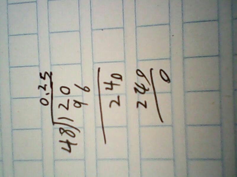 列竖式计算:12除以48=
