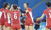 总决赛 中国女排家门前冲冠