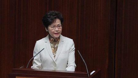 香港特首林郑月娥发表首份施政报告