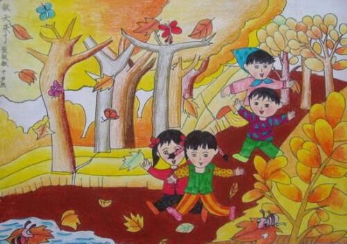 关于画一幅秋天的画该怎么画?有图片可参考下吗?图片