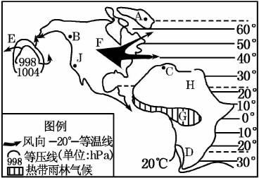 地理 全球的气压带风带及其季节性位移,季风环流.图片