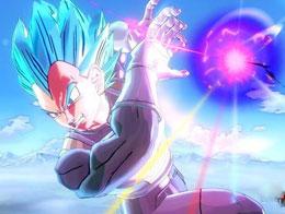 PS4版龙珠超宇宙蓝发超赛神贝吉塔完完虐维斯