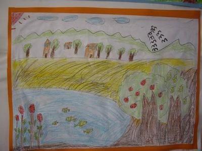 画一幅关于秋天的画并且写一首古诗
