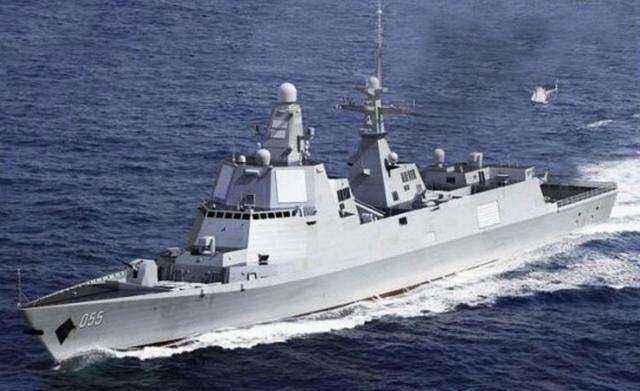 中国055驱逐舰首航画面曝光