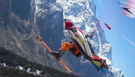 超刺激雪山翼装飞行~要的就是一个爽字!