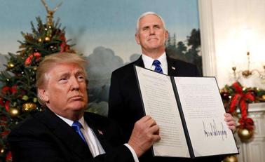 特朗普承认耶路撒冷为首都