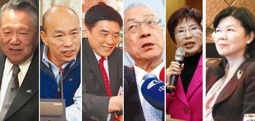国民党主席6位候选人号次确定