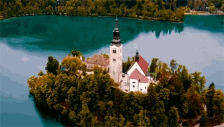 屏息之美!斯洛文尼亚无人机高清视频,太梦幻了