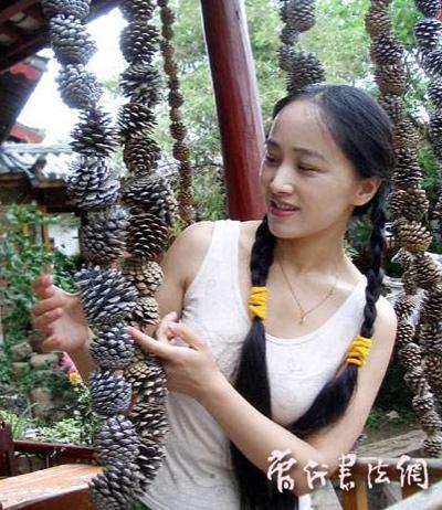中国当代美女书法家