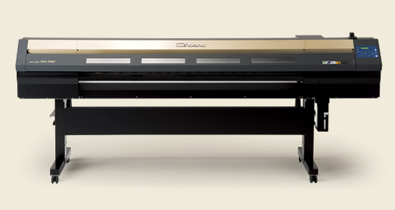 罗兰新款七代头6色压电写真机fh740