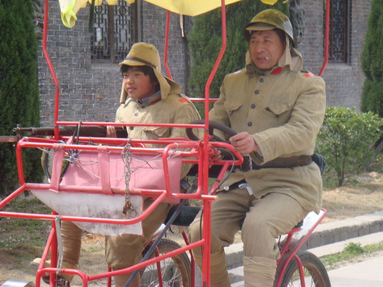 象山影视城里的'日本鬼子'