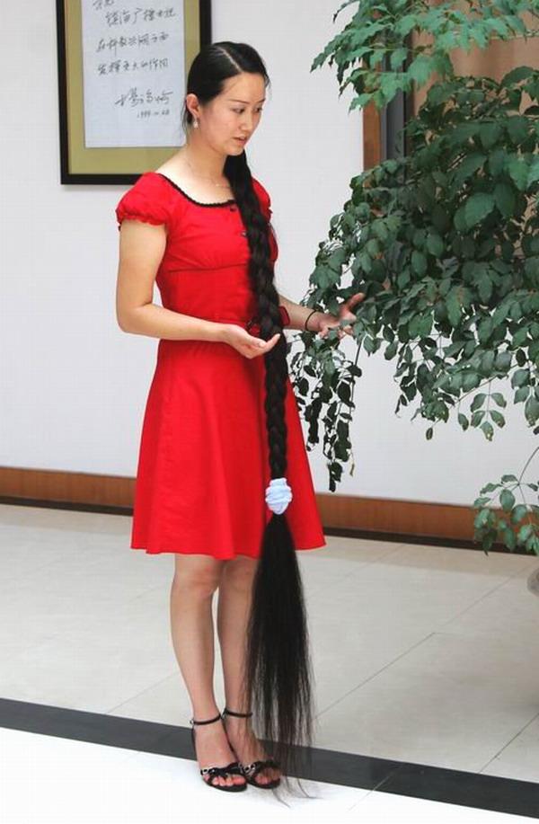 卖头发_中国长发女_长发大辫子图片