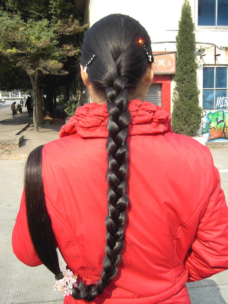 长发女驿站 超长发女大辫子图片 (800x1067)图片