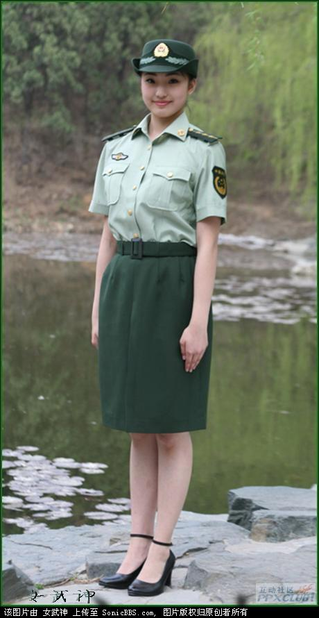 07武警女警官短袖夏常服-解放军新制式军服全面解说图片