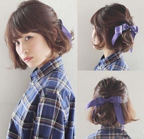 中短卷发怎样扎好看 小心思扎发带来大惊喜图片