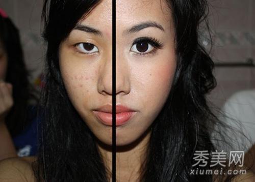 女人生值器全囹�'_惊悚对比 只画半面妆容的\