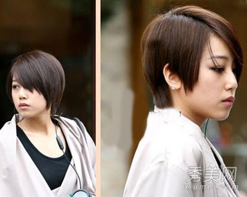 开学季巧克力色发型 男女发型效果图图片