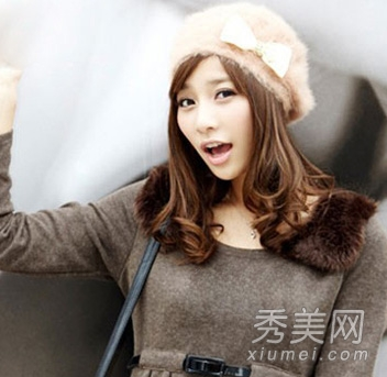 2013最新款中长发发型 尽显清纯甜美范图片