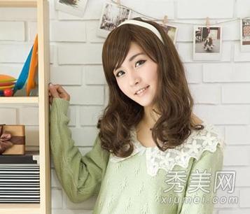 2013年最新款 中长发梨花头发型图片