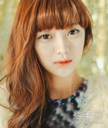 刘海怎么烫好看 韩式空气刘海清新减龄图片