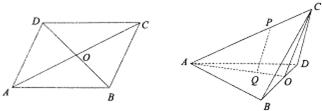 亚洲视频111abcd_如图,abcd为边长为2的菱形,∠bad=60°,对角线交于点o,沿bd将△bcd折