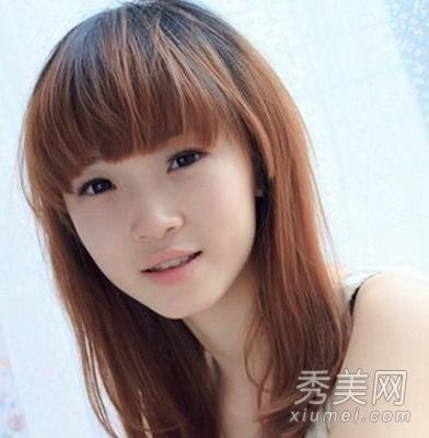百变齐刘海发型设计 清新时尚还显瘦图片