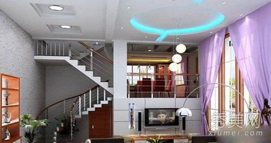 八款复式楼客厅吊顶装修效果图图片