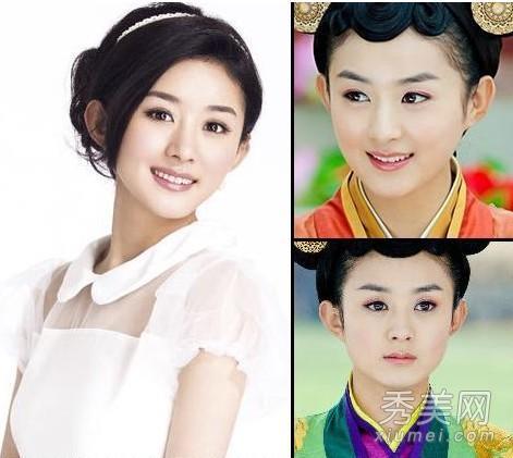 刘诗诗唐嫣 最美古装女星妆容PK图片