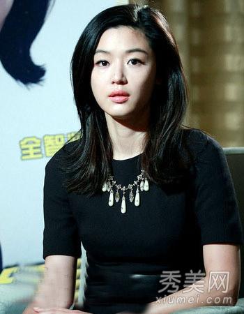 韩国女神全智贤发型 直发卷发都很美图片