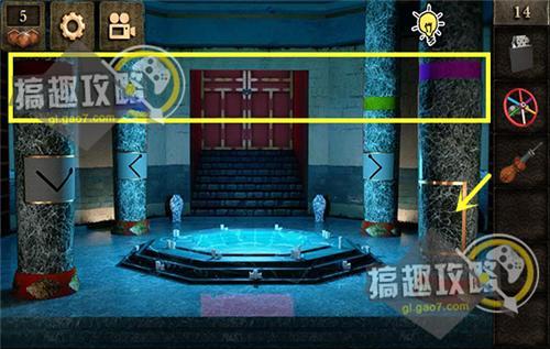 密室逃脱12密室之旅第14关之旅攻略逃脱12神庙神庙第落水狗游戏攻略图片