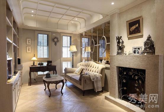 100平法式优雅一居室 小户型浪漫装修图图片