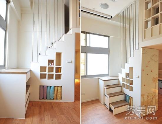 39平小户型装修 挑高复式楼设计图片