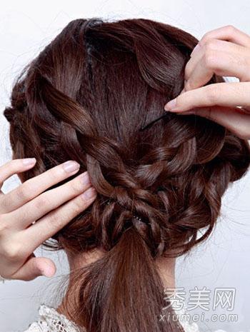 花样盘发发型图片 零技巧打造赛明星图片