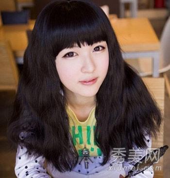 韩式泡面烫发型 圆脸发少都适合图片