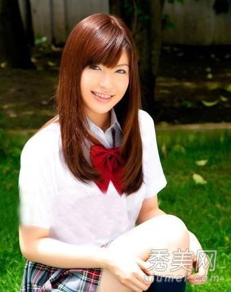 清新学生发型设计 马尾齐刘海校园人气急升图片