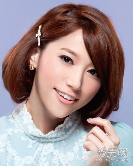 夏季韩式发型扎法 刘海编发 长发变短发图片