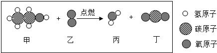 如图表示的是某纯净物在氧气中燃烧的微观示意图,请根据图示回答问题图片