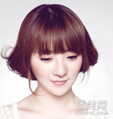 韩式女生俏皮短发 胖圆脸女生必备发型