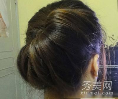 简单韩式盘发步骤 ol必备优雅发型图片