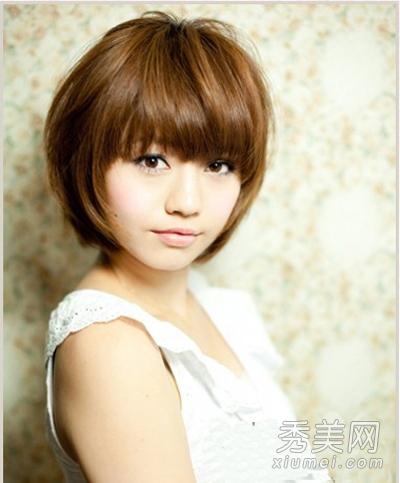 大脸发型适合的短发短发最新女生发型设计泡面头女头瘦脸图片