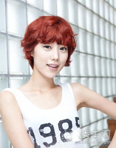 韩式短发烫发发型 甜美百变ol通勤必备图片